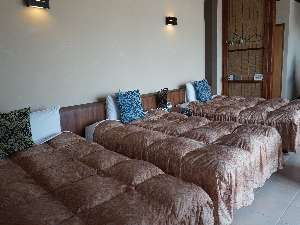 Suite Terrace 石垣島:ベットはセミダブミダブル×2ダブル×1のトリプルです