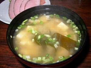 山根旅館:当館自慢のお味噌汁です。ぜひお召し上がりください!