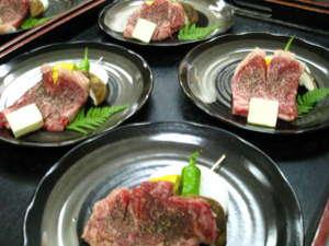 旅館 いび:淡路牛のステーキ!!