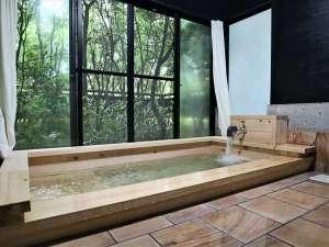 <古民家調の半露天風呂>一例