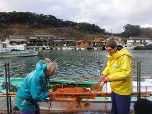 島宿 民宿但馬屋:朝一番に、お客様の魚を捕るために漁に出ます