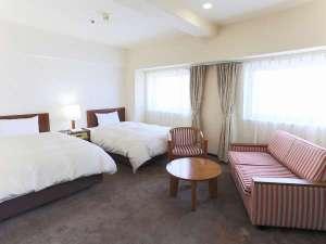 ホテルニューカリーナ:《デラックスツインルーム》客室面積 26m2 / ベッドサイズ 113×195cm