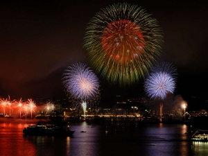 【かごしま錦江湾サマーナイト花火大会】九州最大級の花火大会は毎年8月に開催 (写真提供:鹿児島市)