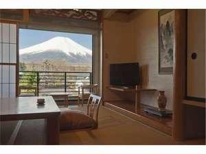 富士と湖の宿多賀扇