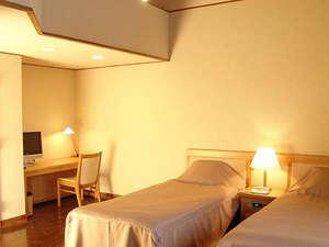 トヨタ白川郷自然学校:【客室】洋室ツインルーム ~3人までお泊りいただけます~