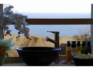 伊豆高原の隠れ宿 Syuhari ~守 破 離~:洗面台からの景色