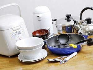 フレックステイイン新浦安:フロントにて食器・調理器具のレンタルを行っています。