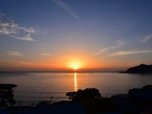早朝天気が良ければ素晴らしいサンロードをみることも・・・