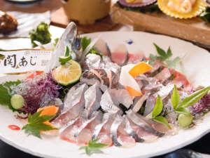 豊後水道絶品海鮮が自慢の料理宿 木蓮:・【関アジの姿造り】鮮度が良く、引き締まった身の味わいが絶品!/一例