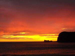 旅館 白磯:白鶴浜の夕焼け