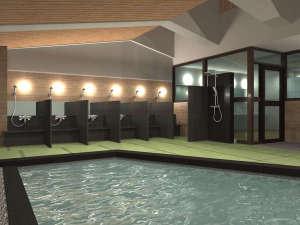 ホテル 宮島別荘:【展望畳大浴場 湯Like】宮島一美しい夕陽が望める、畳を敷いた湯ニークな展望大浴場を設えました。