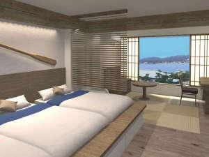 ホテル 宮島別荘:【海スタイル◇板の間】あなたらしいマリンステイを叶えてくれる。宮島でスローライフをお楽しみください。