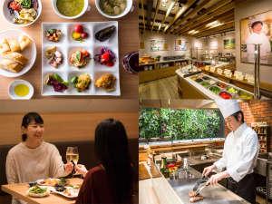 ホテル宮島別荘 夕陽を望む展望畳温泉と自然派ブッフェ料理:伝統と新しさがミックスした宮島別荘料理をオープンキッチンで楽しむ
