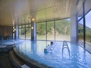 祖谷渓温泉 ホテル秘境の湯:ホテル秘境の湯:泉質もさることながら、広さも自慢の当館大浴場♪