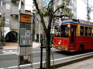 ■銘橋「松江大橋」は全ての公共バスの要です■従い当館真ん前のバス停しか通らないので最高に便利です■