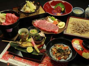 美神の湯 松葉荘:お食事一例〈ステーキプラン〉