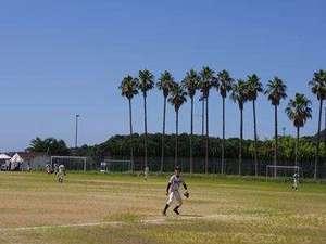 淡路島天然温泉 東浦サンパーク 花の湯:多目的グラウンドでは野球やサッカーが楽しめます。