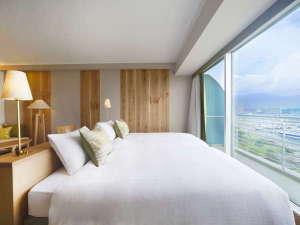 琵琶湖ホテル:自然の眺望を最大限活かしたシンプルな空間をご提供『Natura(ナチュラ)』ツイン(40㎡)