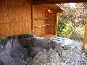 貸別荘 天ヶ瀬ログハウスA:露天風呂です