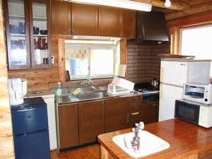 貸別荘 天ヶ瀬ログハウスA:キッチンです