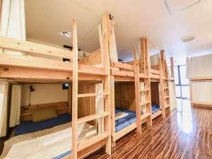 ARKHostel&CafeDining アークホステル:快適に休めること間違いなし!全ベッド、セミダブルサイズの快適空間★荷物が多くても安心!