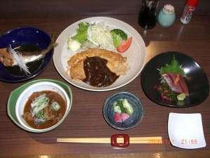 御殿場ビジネスホテル千楽:夕食例2