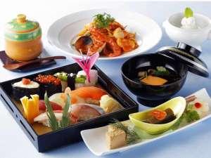 グランドパーク小樽:寿司8貫和洋ディナーコース