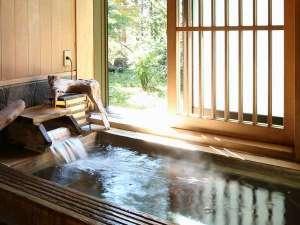 ドーミー倶楽部軽井沢:■新館貸切風呂■ 檜風呂。しあわせ貸切風呂♪