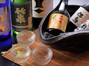 お酒は、地酒以外にも、料理に合わせて、豊富にご用意。