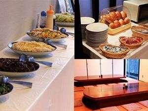 高知ホテル:大人気の朝食和洋バイキング♪高知駅を見下ろす会場♪種類豊富な和洋バイキングで朝から元気に!