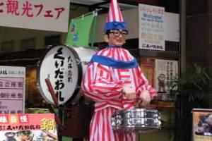 大阪きたら記念写真♪大阪道頓堀の≪くいだおれ太郎≫!当館から徒歩圏内です♪