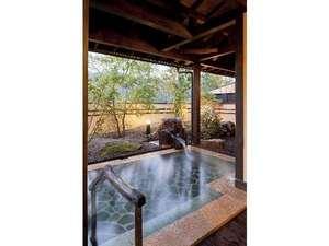 水車の宿 山木館:大浴場「木漏れ日の湯」は朝の日差しも心地好い