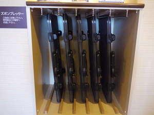 ☆各階エレベーター前にズボンプレッサーがございます。