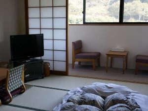もみじ川温泉:湖を一望できるレイクビューのお部屋です