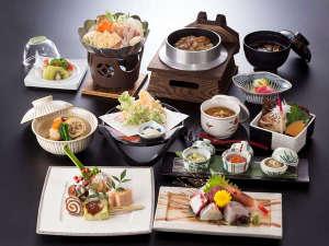 飯坂温泉 あづま荘:*冬の心づくしプラン【夕食一例】
