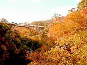 ホテル紅葉館:【秋の紅葉スポット】鳴子峡の橋からの紅葉は絶景♪