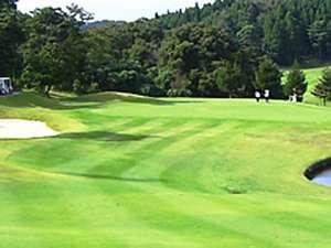 ○緑にかこまれたグリーンでゴルフを楽しんでください。