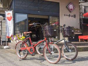 加賀料理と源泉かけ流しの宿 山中温泉 すゞや今日楼:電動自転車の貸し出しあり!天気の良い日はサイクリング♪