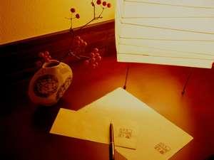 心に残るひと時を・・旅の思い出を武家屋敷ホテルオリジナルレターセットにお綴りください。