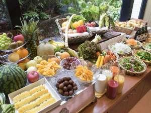 朝食 フルーツ・野菜 兵庫県産にこだわったおやさいとフルーツです。沢山召し上がって下さい。