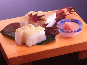 高杉晋作が好んで食べた甘鯛の押し寿司です「長州寿司」