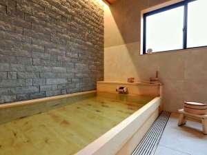 ヒノキの貸切風呂