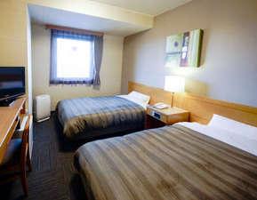 ホテルルートイン鶴岡インター:客室ツインルームの一例。ご夫婦・ご家族でのご宿泊に人気です!