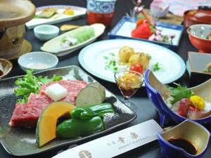 縁(ゆかり)の宿 幸楽:五感で味わう♪ 島根県グルメ 松永牛ステーキコース