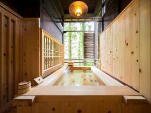 合掌造りの宿 はづ合掌:檜風呂