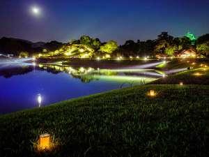 【後楽園】幻想庭園 幻想的にライトアップした夜の庭園を楽しめます※期間限定