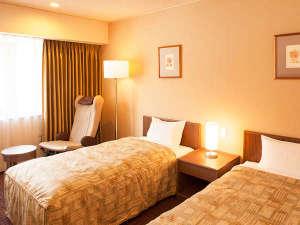 ホテルパールシティ気仙沼 (HMIホテルグループ):ツインルーム【喫煙可/禁煙・24平米】幅97cmのベッド2台。おふたりでのご利用に最適です。