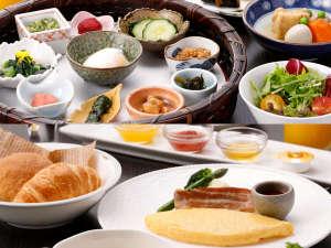 ホテルメトロポリタン山形:【朝食 6:30オープン】県産の食材をふんだんに使用したご朝食は、和定食と洋定食からお選びいただけます。