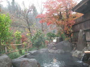 小杉庵:秋には紅葉を眺めながらゆっくりご入浴ください