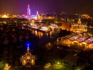 ホテルオークラJRハウステンボス:パークビュー側からの眺望例※光の王国開催期間